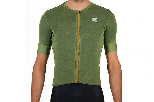 Sportful Mens Monocrom Jersey Green Bottle