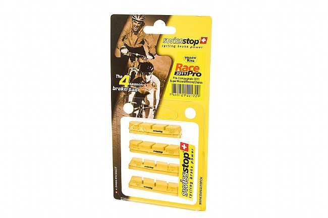 SwissStop RacePro Campy Brake Pads - Yellow Carbon SwissStop RacePro Campy Brake Pads - Yellow (Carbon)