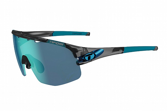 Tifosi Sledge Lite Sunglasses Crystal Smoke - Clarion Blue/AC Red/Clear
