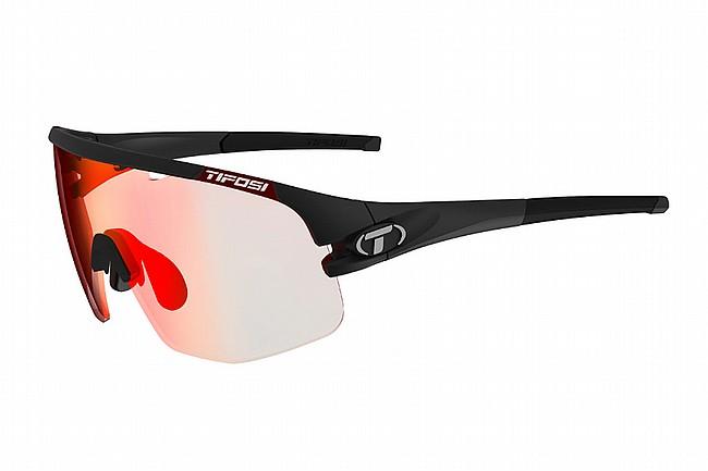 Tifosi Sledge Lite Sunglasses Matte Black - Clarion Red Fototec