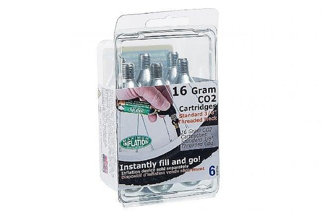 TriSports 16g Threaded CO2 Cartridge (6-Pack) BikeTiresDirect 16g Threaded CO2 Cartridge (6-Pack)
