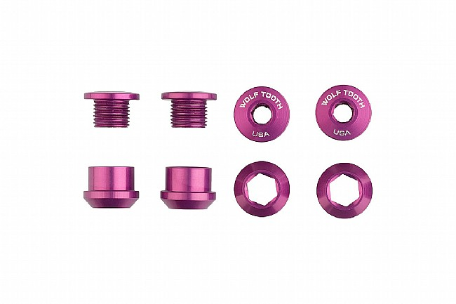 Wolf Tooth Components Set of 4 Alloy Chainring Bolts for 1x Drivetrains Purple