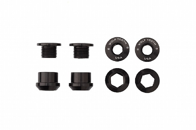 Wolf Tooth Components Set of 4 Alloy Chainring Bolts for 1x Drivetrains Black