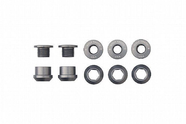 Wolf Tooth Components Set of 5 Alloy Chainring Bolts for 1x Drivetrains Gunmetal Grey