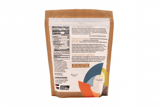 Tailwind Nutrition Rebuild Recovery (15 Servings) Nutrition Facts Coffee (Caffeinated)