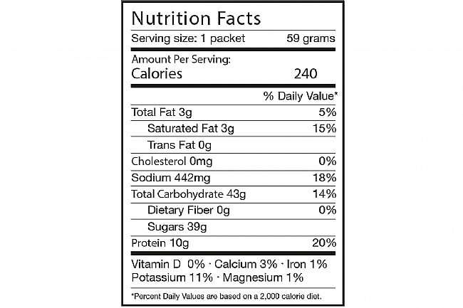Tailwind Nutrition Rebuild Recovery (12 Single Servings) Vanilla Nutrition Facts