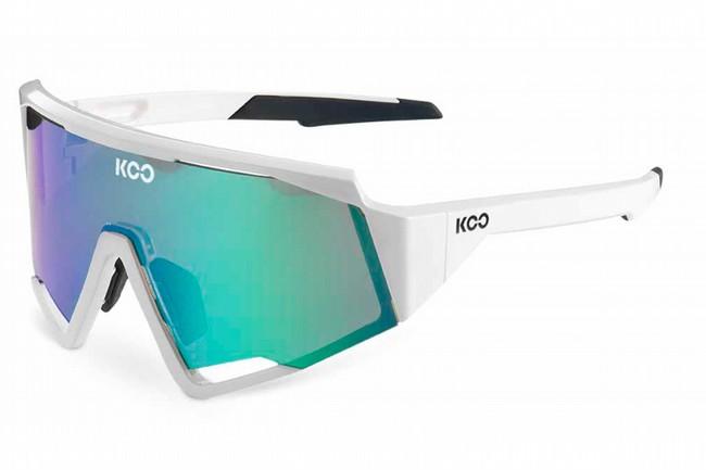 KOO Spectro Sunglasses  White Green/Green Mirror Lenses